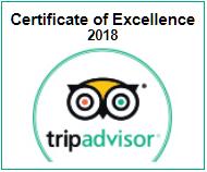TripAdvisor Certificate of Excellence 2018