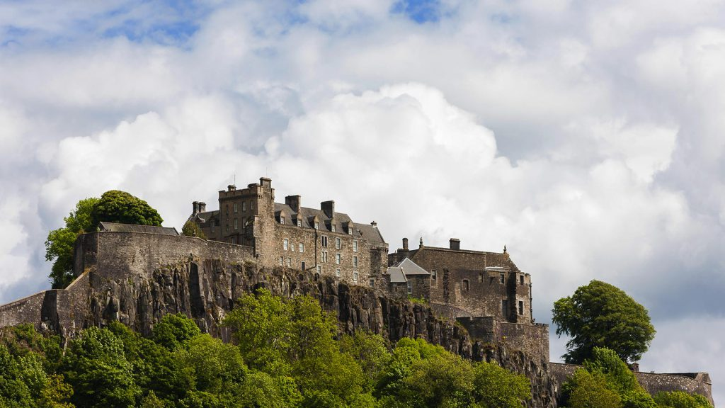 Stirling Castle - visit on our Grand Tour of Scotland