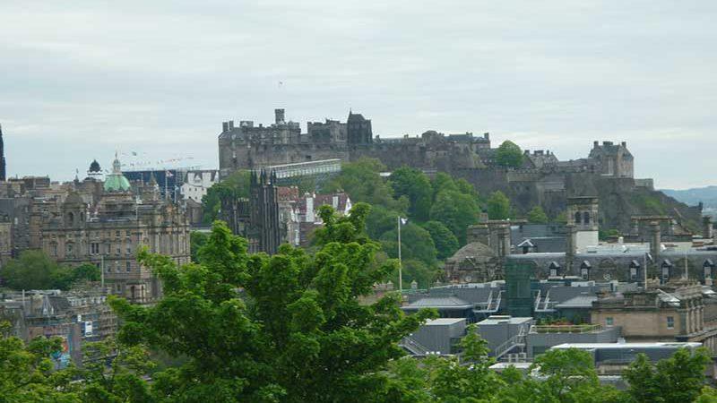View of Edinburghs Old Town