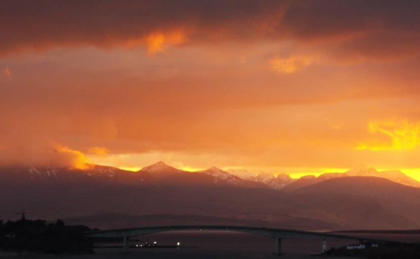 Amazing Sunset over Skye Bridge