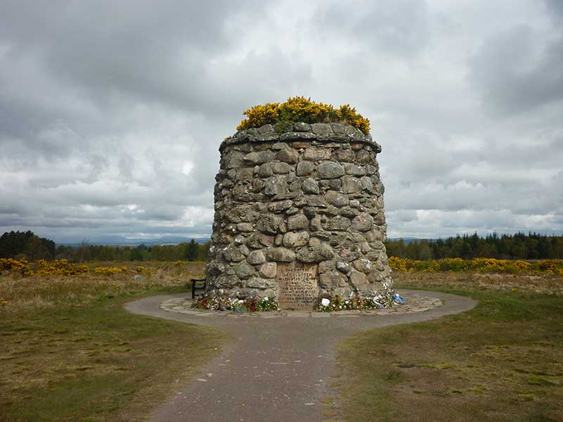 Culloden Memorial - visit on our Grand Tour of Scotland