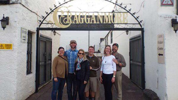 Friends at Cragganmore Distillery