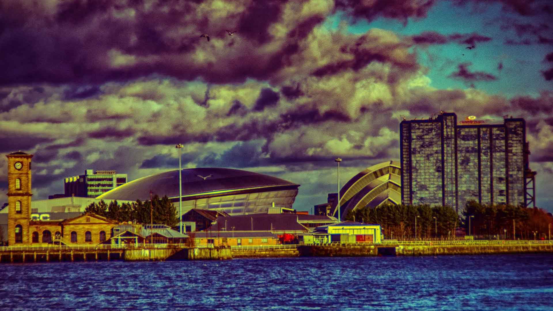Glasgow- The Hydro from the River Clyde